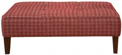 Buoyant Piper Fabric Accent Footstool