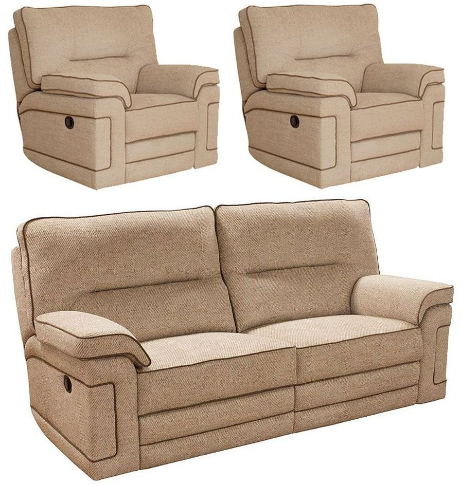 Buy buoyant plaza 3 1 1 seater fabric recliner sofa suite for Fabrica sofa cama 1 plaza