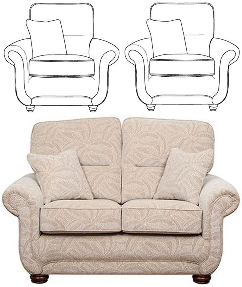 Buoyant Portabella 2+1+1 Seater Fabric Sofa Suite