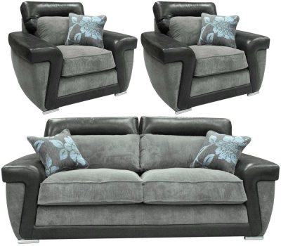 Buoyant Tanisha 3+1+1 Seater Fabric Sofa Suite
