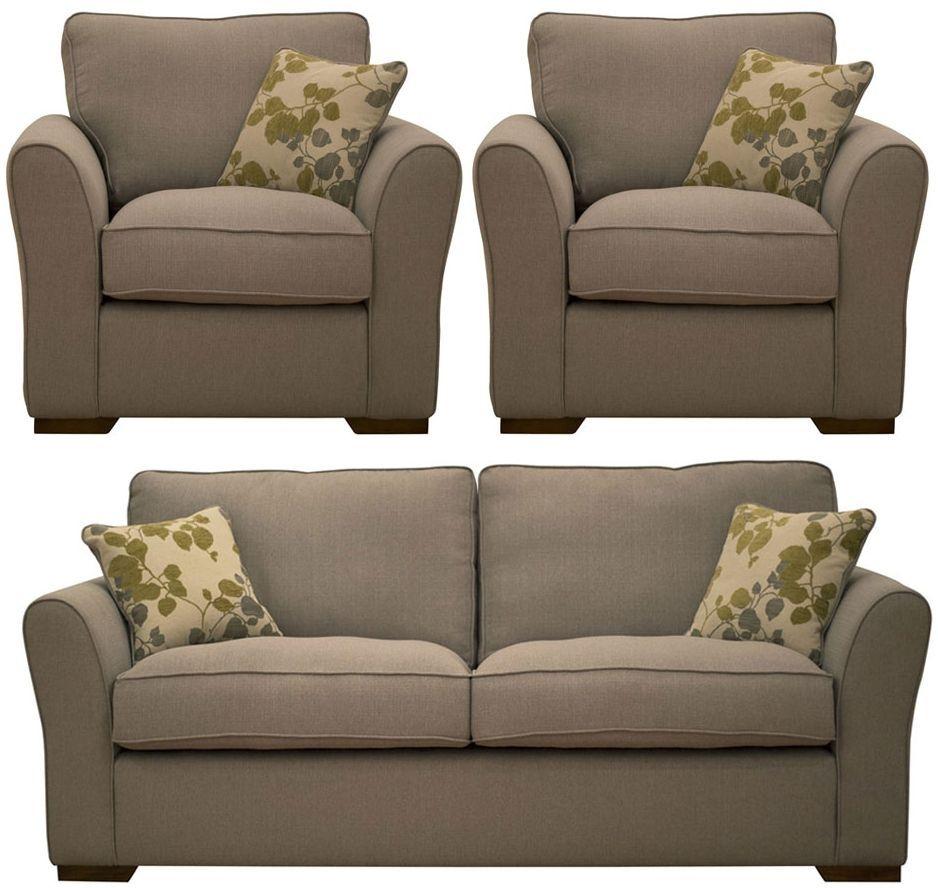 Buoyant Taylor 3+1+1 Seater Fabric Sofa Suite