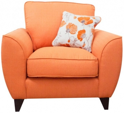 Buoyant Tulip Fabric Armchair