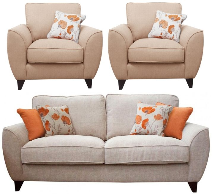Buoyant Tulip 3+1+1 Seater Fabric Sofa Suite