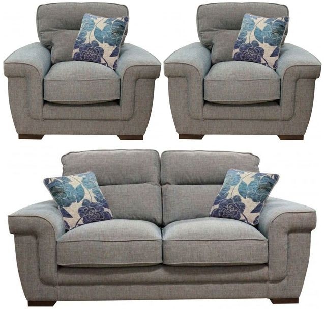 Buoyant Zara 2+1+1 Seater Fabric Sofa Suite