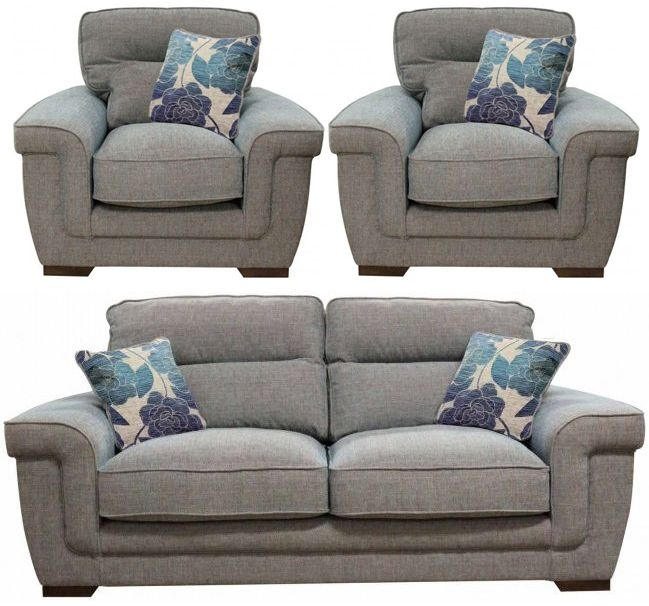 Buoyant Zara 3+1+1 Seater Fabric Sofa Suite