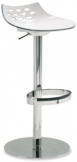 Connubia Jam Metal and Plastic Swivel Bar Stool with Footrest