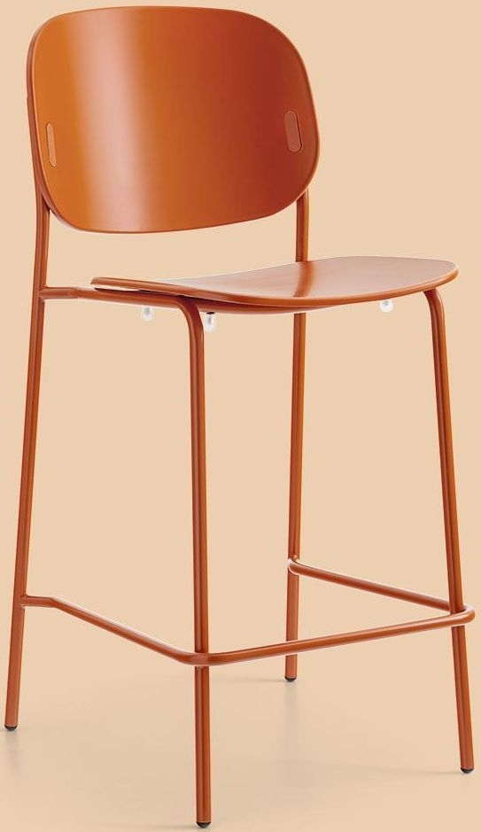 Connubia YO Metal and Polypropylene Bar Stool with Footrest CB1987-A