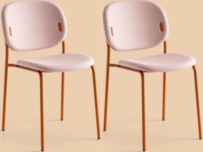 Connubia YO Metal and Fabric Dining Chair (Set of 4) CB1986-N SP