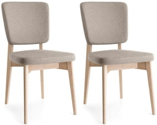 Connubia Escudo Upholstered Wooden Dining Chair (Pair)
