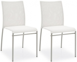 Connubia Jenny Chrome Plated Metal Dining Chair (Pair)