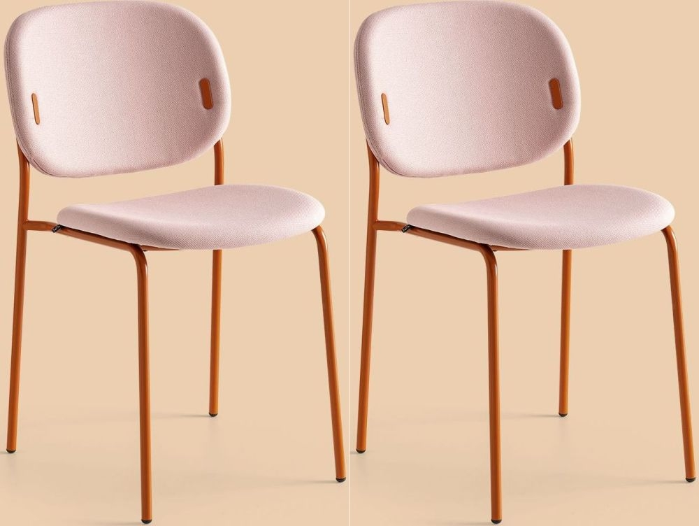 Connubia YO Metal and Fabric Dining Chair (Set of 4) CB1986-SP
