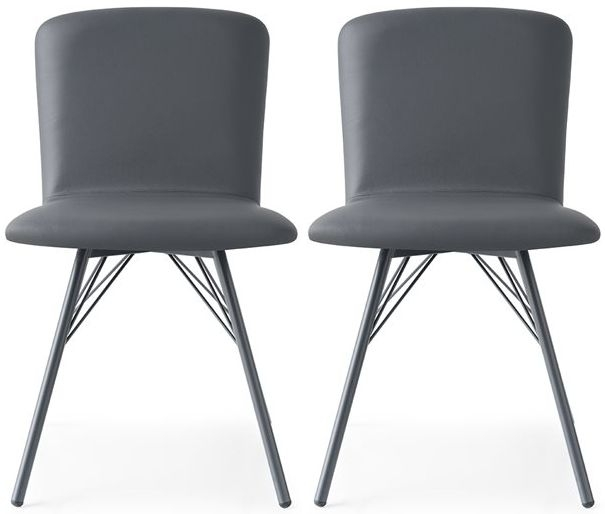 Connubia Emma Upholstered Plywood Seat Dining Chair (Pair)