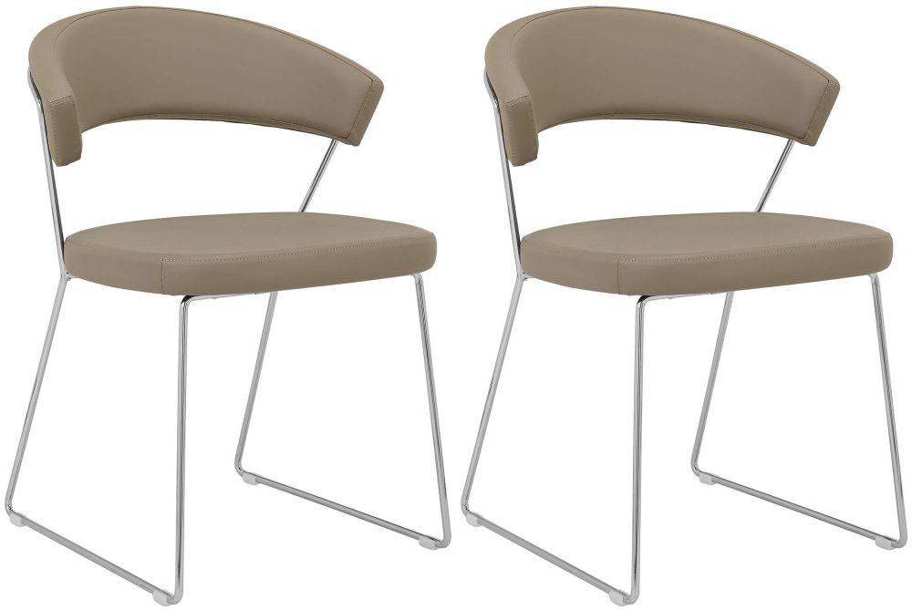 Connubia New York Upholstered Dining Chair with Sled Base (Pair) CB1022-SK