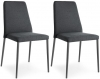 Connubia Club Upholstered Metal Dining Chair (Pair)
