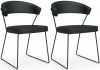 Connubia New York Upholstered Dining Chair with Sled Base (Pair) CB1022-V