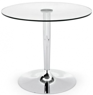 Connubia Planet Glass Round Dining Table - 90cm