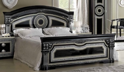 Camel Aida Black and Silver Italian Bed