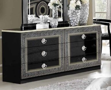 Camel Aida Black and Silver Italian Dresser - Double