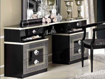 Camel Aida Black and Silver Italian Vanity Dresser