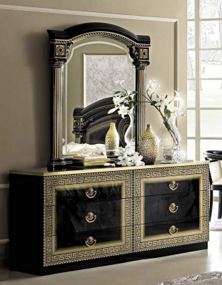 Camel Aida Black and Gold Italian Double Dresser
