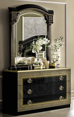 Camel Aida Black and Gold Italian Single Dresser