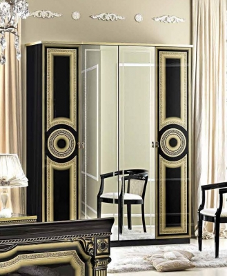 Camel Aida Black and Gold Italian Wardrobe