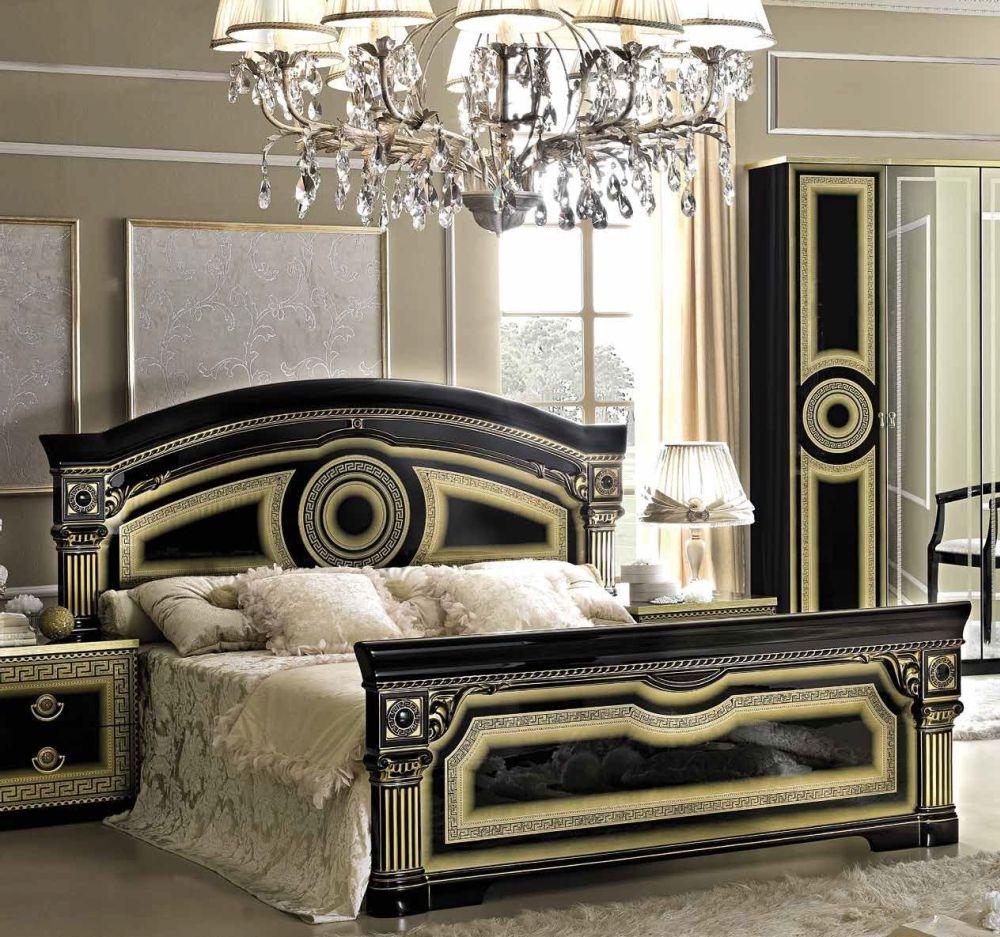 Camel Aida Black and Gold Italian Bed