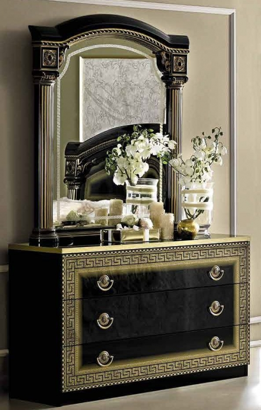 Camel Aida Black and Gold Italian Single Dresser