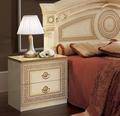 Camel Aida Ivory Italian Bedside Cabinet
