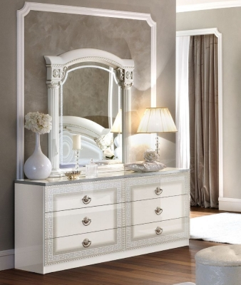 Camel Aida White and Silver Italian Double Dresser