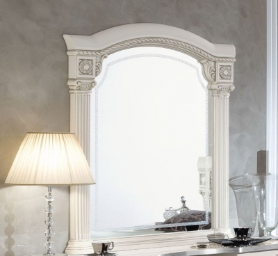 Camel Aida White and Silver Italian Mirror - 102cm x 118cm