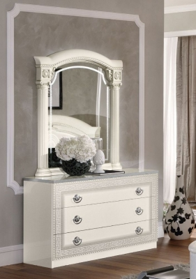 Camel Aida White and Silver Italian Single Dresser