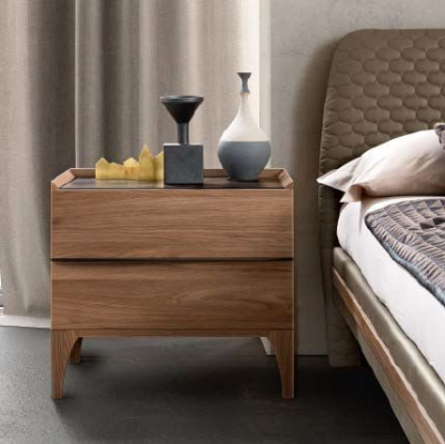 Camel Akademy Night Italian Wooden Bedside Cabinet