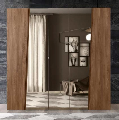 Camel Akademy Night Italian Wooden 5 Door Wardrobe with Mirror
