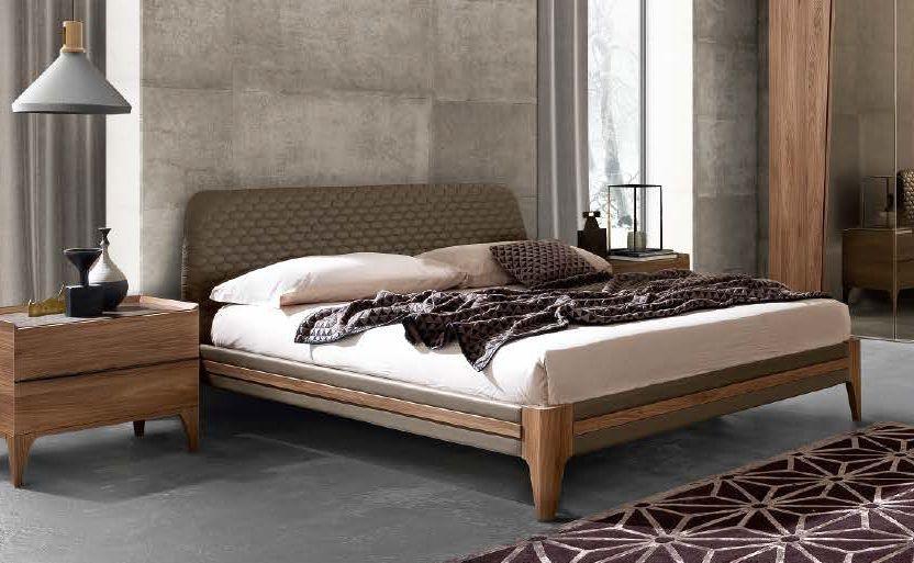 Camel Akademy Night Italian Eco Leather Ring Bed with Storage