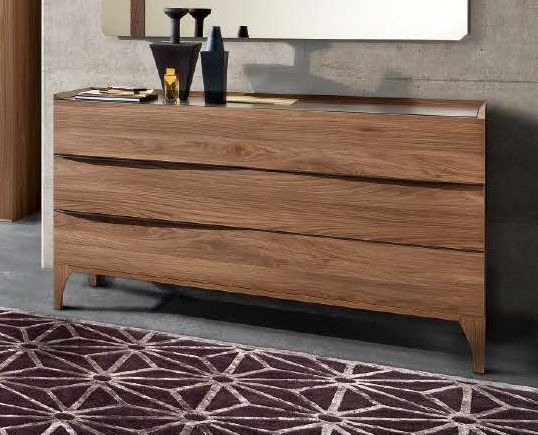 Camel Akademy Italian Wooden 3 Drawer Dresser