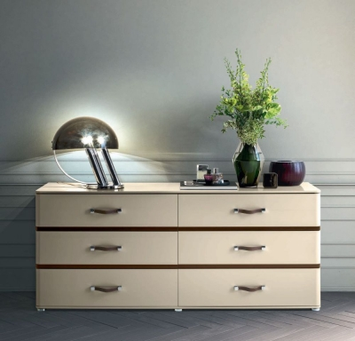 Camel Altea Night High Gloss Italian 6 Drawer Chest
