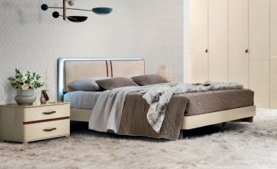 Camel Altea Night High Gloss Italian Bed