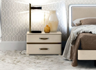 Camel Altea Night High Gloss Italian Large Bedside Cabinet