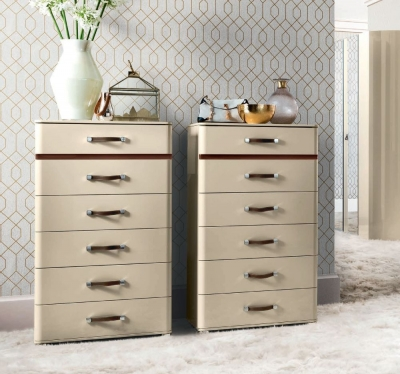 Camel Altea Night High Gloss Italian Tallboy Chest