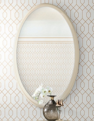 Camel Altea Italian Oval Mirror - 80cm x 125cm