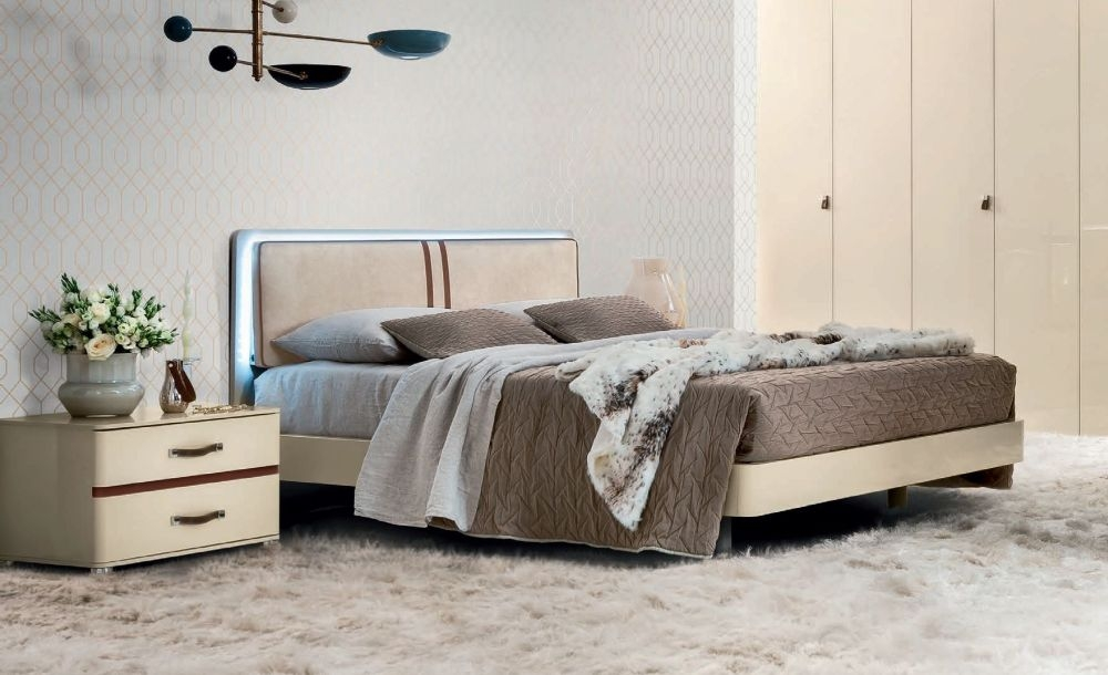 Camel Altea Night High Gloss Italian Bed with Storage