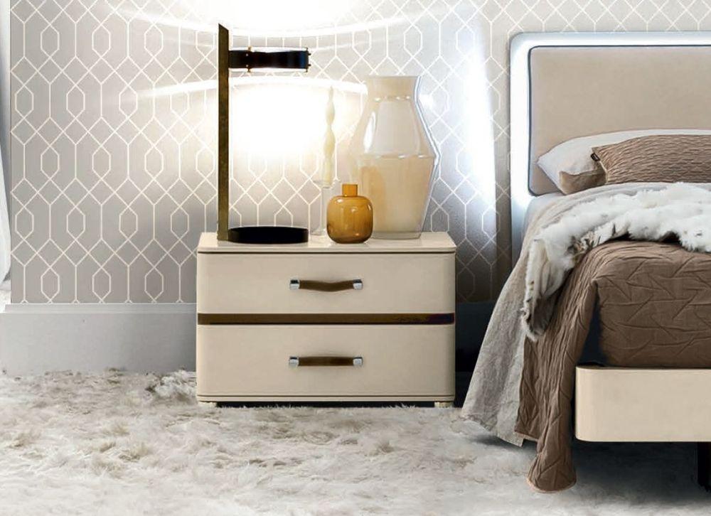 Camel Altea Night High Gloss Italian Large Bedside Cabinet