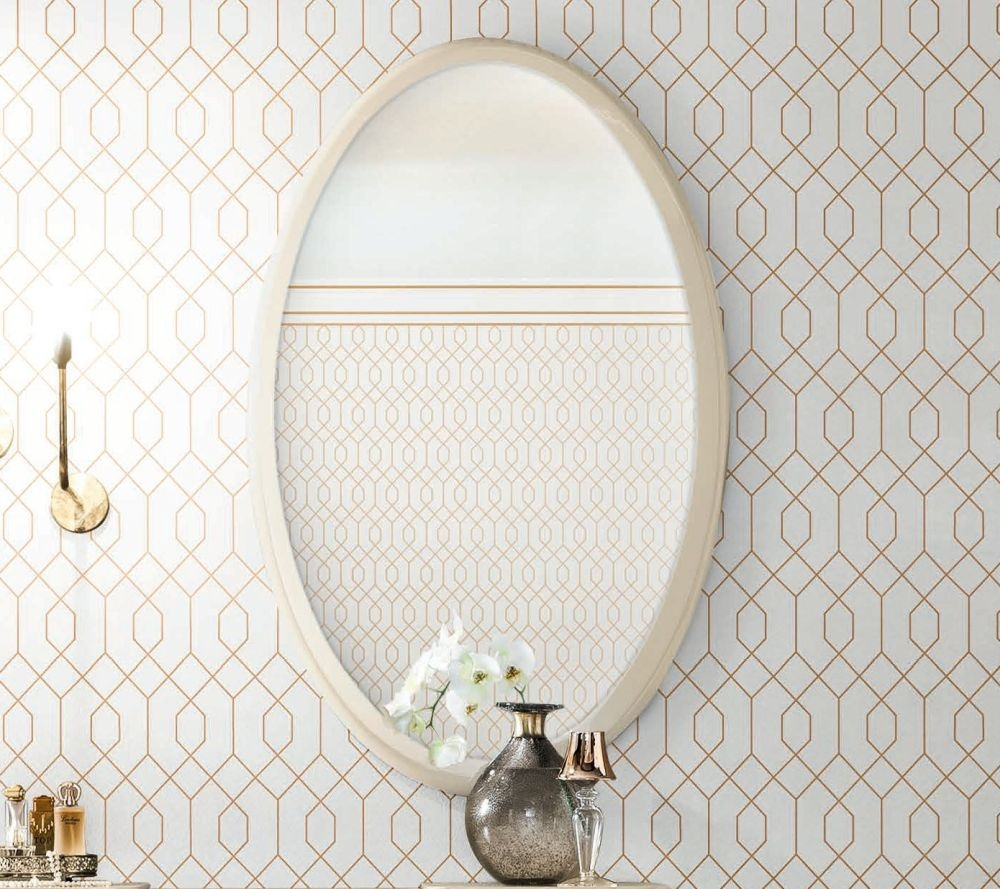 Camel Altea Night High Gloss Italian Oval Mirror - 125cm x 80cm