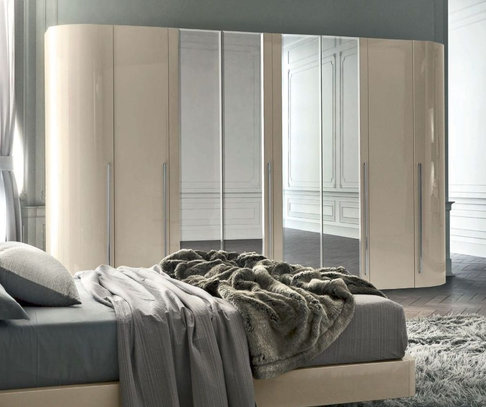 Camel Altea Night High Gloss Italian Mirror Wardrobe