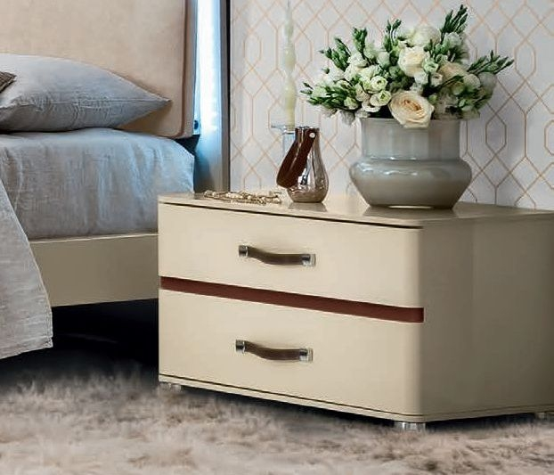 Camel Altea Italian 2 Drawer Maxi Bedside Cabinet