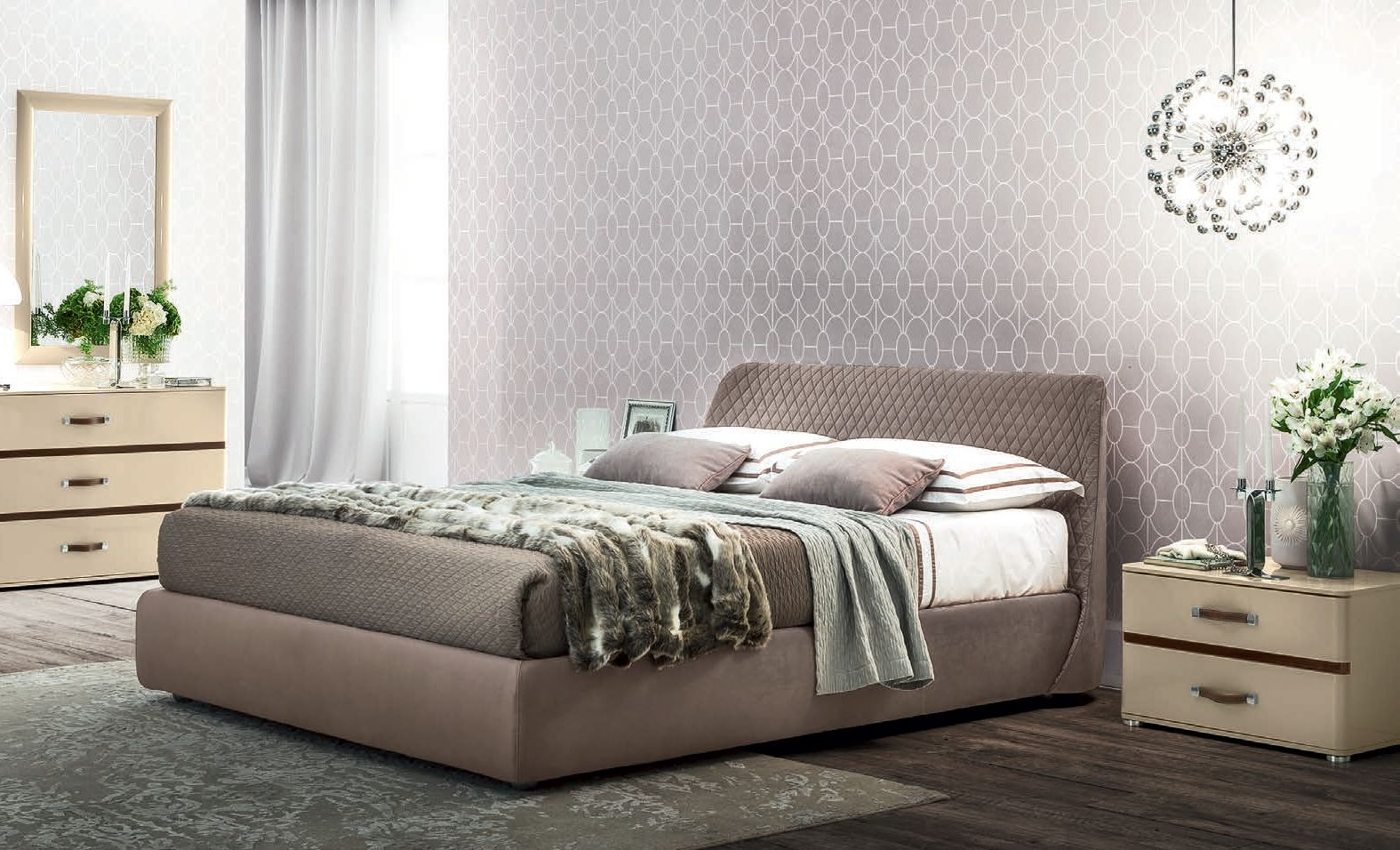 Camel Altea Kleo Italian Bed