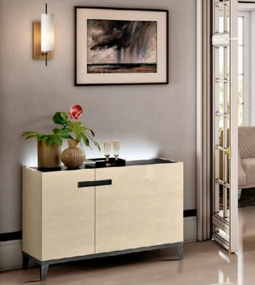 Camel Ambra Day Sand Birch Italian Buffet Sideboard