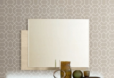 Camel Ambra Night Sand Birch Italian Mirror - 120cm x 90cm
