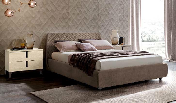 Camel Ambra Night Italian Kleo Bed with Luna Storage